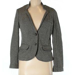 LOFT EUC Cotton Marl Jersey Knit Gray Blazer